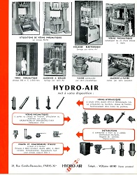 Hydro-Air in Paris: old flyer